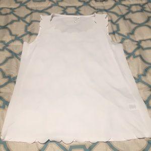 Sheer white tank top